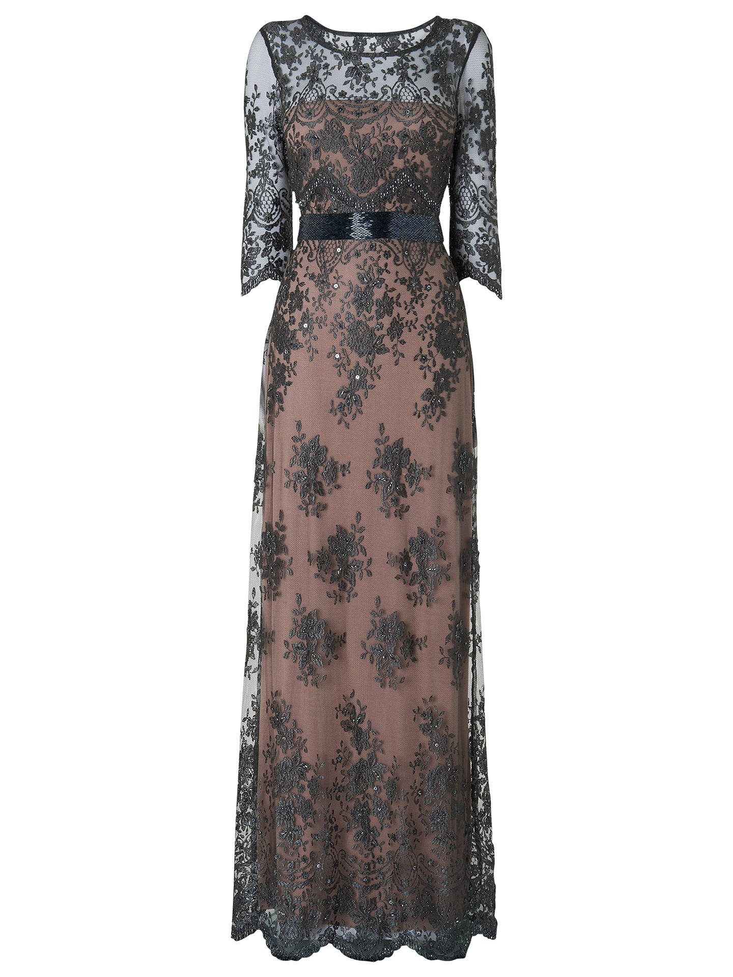 Phase Eight Collection 8 Sabrina Lace Beaded Dress, Charcoal at John ...