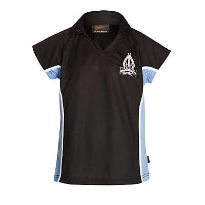 Product photo of The minster school girls polo shirt navy blue sky blue