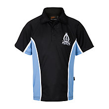 Buy The Minster School Boys' Polo Shirt, Navy Blue/Sky Blue Online at johnlewis.com