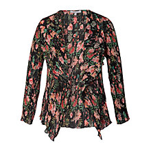 Buy Chesca Garden Print Shrug, Black/Multi Online at johnlewis.com