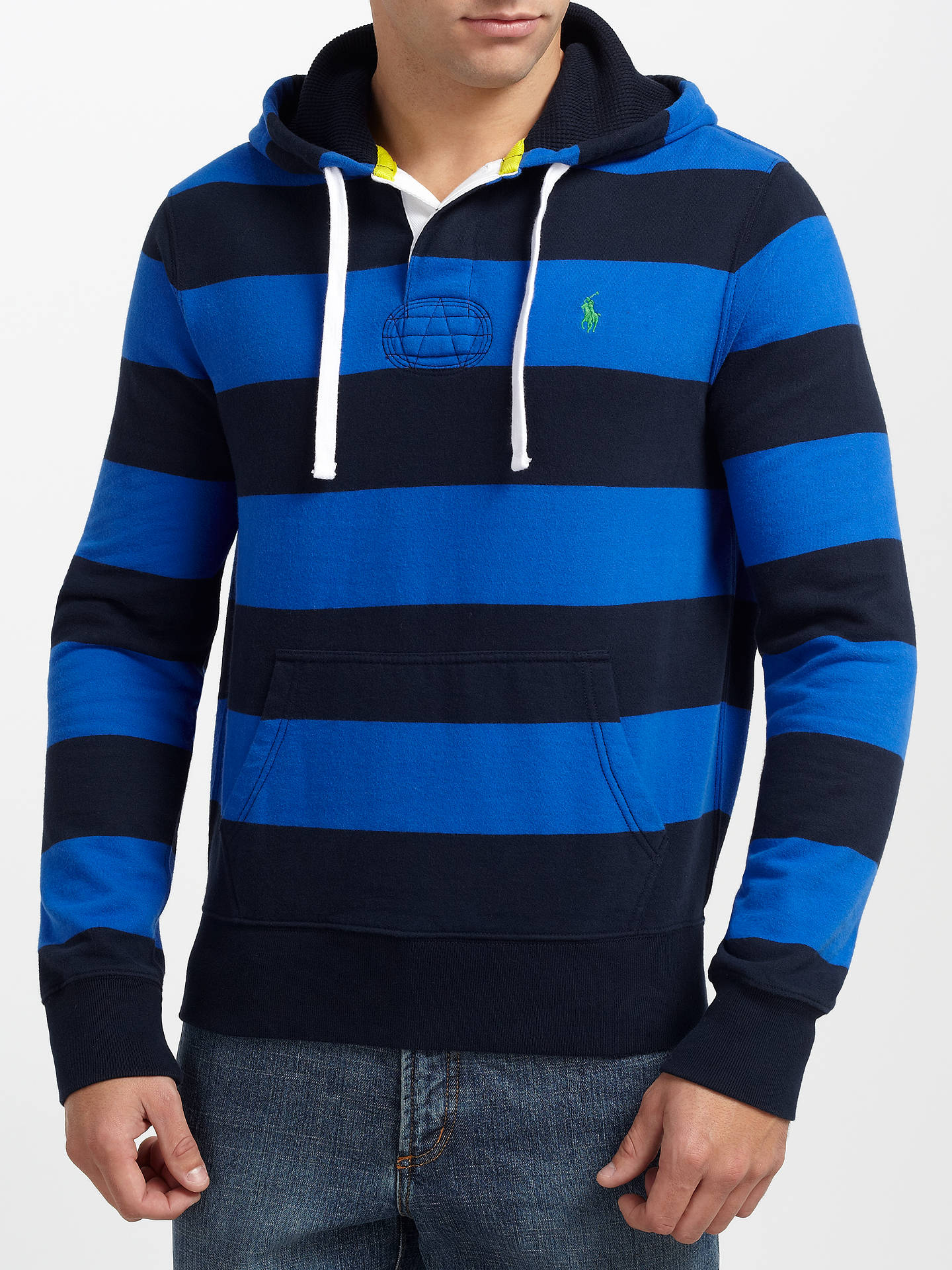 cef7d5edef6 ... Buy Polo Ralph Lauren Hooded Rugby Sweat Top, Pacific Royal, L Online  at johnlewis ...