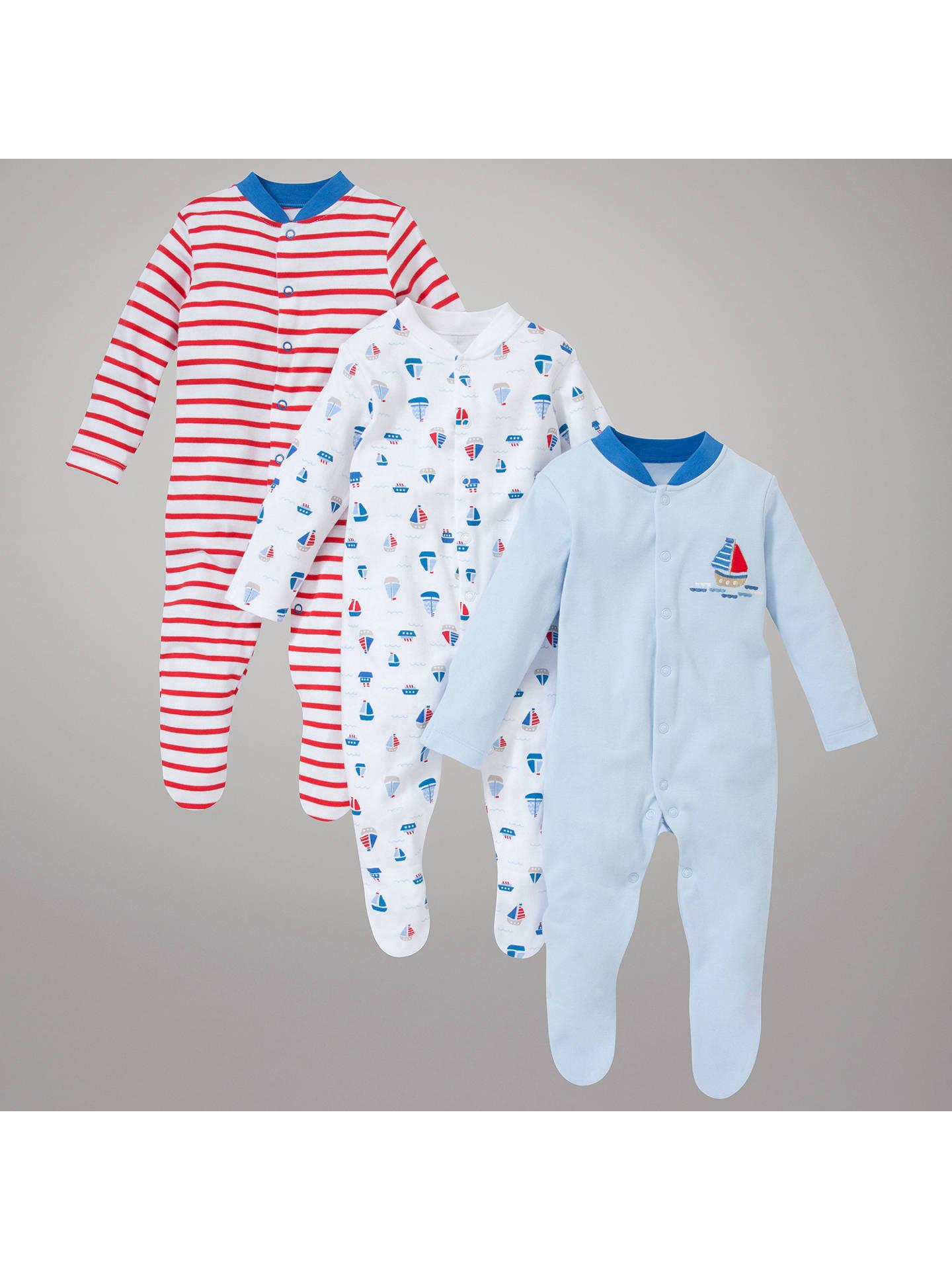 8398389e1d BuyJohn Lewis Baby Nautical Bodysuits