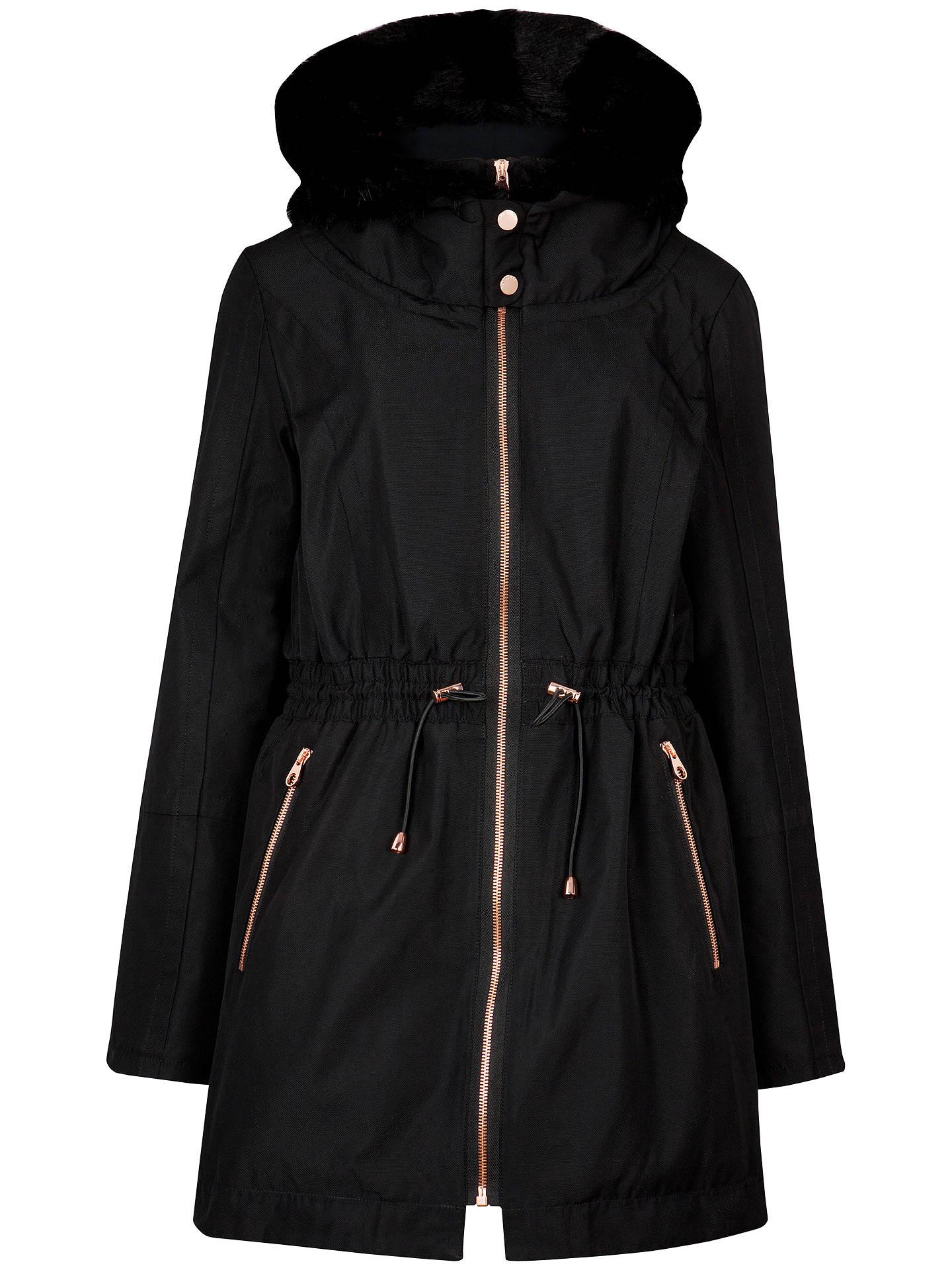 8b762c1001dd Buy Ted Baker Ruye Faux Fur Trimmed Parka Coat