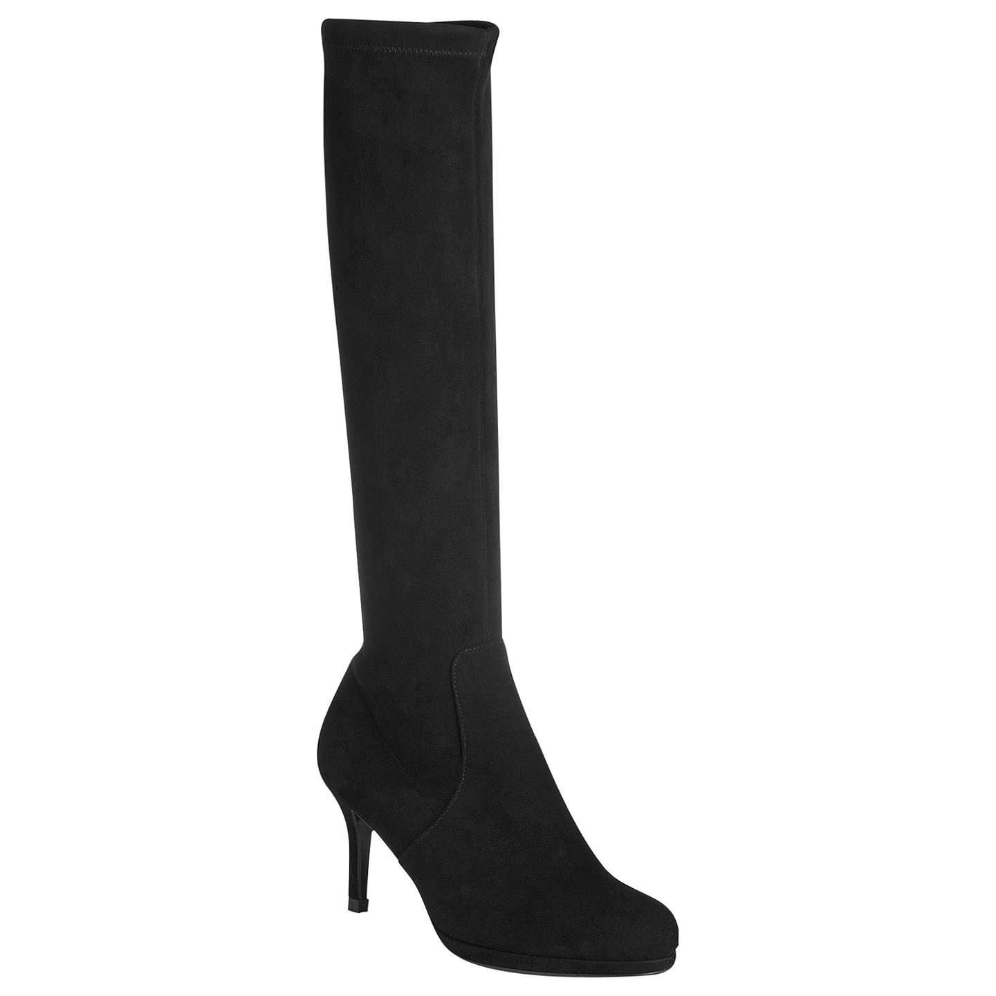 BuyL.K. Bennett Sylvie Knee High Boots, Black, 3 Online at johnlewis.com