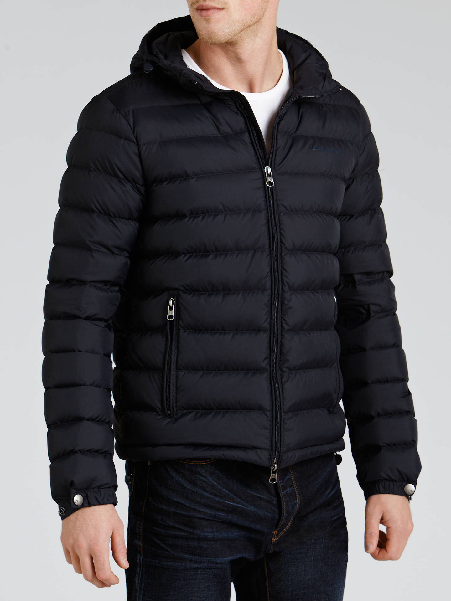 beda972f707c ... BuyArmani Jeans Down Filled Puffer Jacket, Navy, 40 Online at  johnlewis.com ...