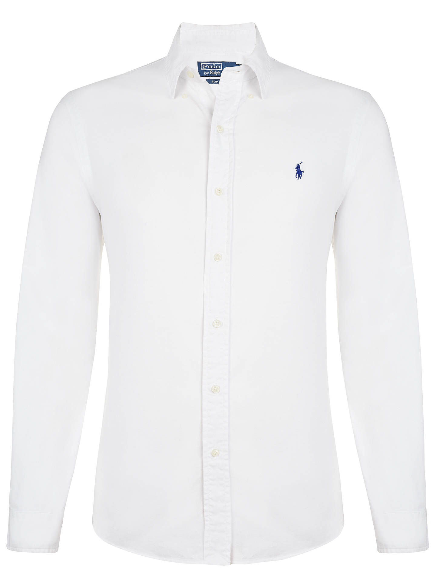BuyPolo Ralph Lauren Oxford Slim Fit Shirt, White, M Online at  johnlewis.com ... 2f3112d516c0