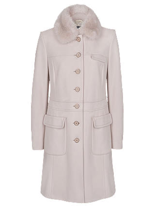 Buy French Connection Faux Fur Collar Coat, Great White, 6 Online at johnlewis.com