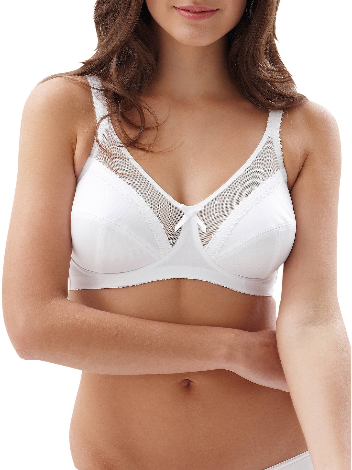 5e818dfccc1 Buy Royce Charlotte 821 Comfort Bra, White, 28DD Online at johnlewis.com ...