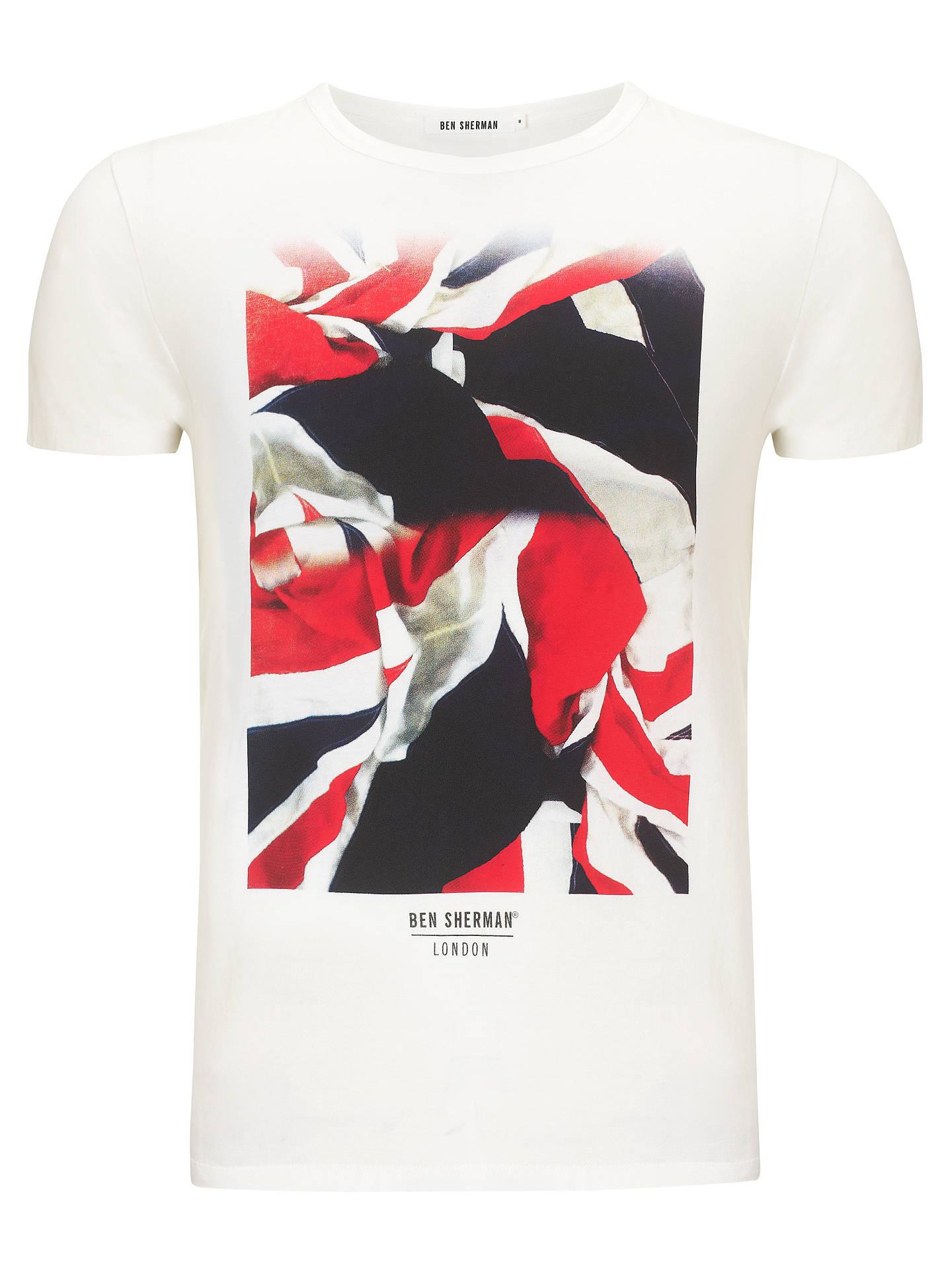 Ben Sherman Flag Print Crew Neck T-Shirt at John Lewis   Partners 3843bf76d