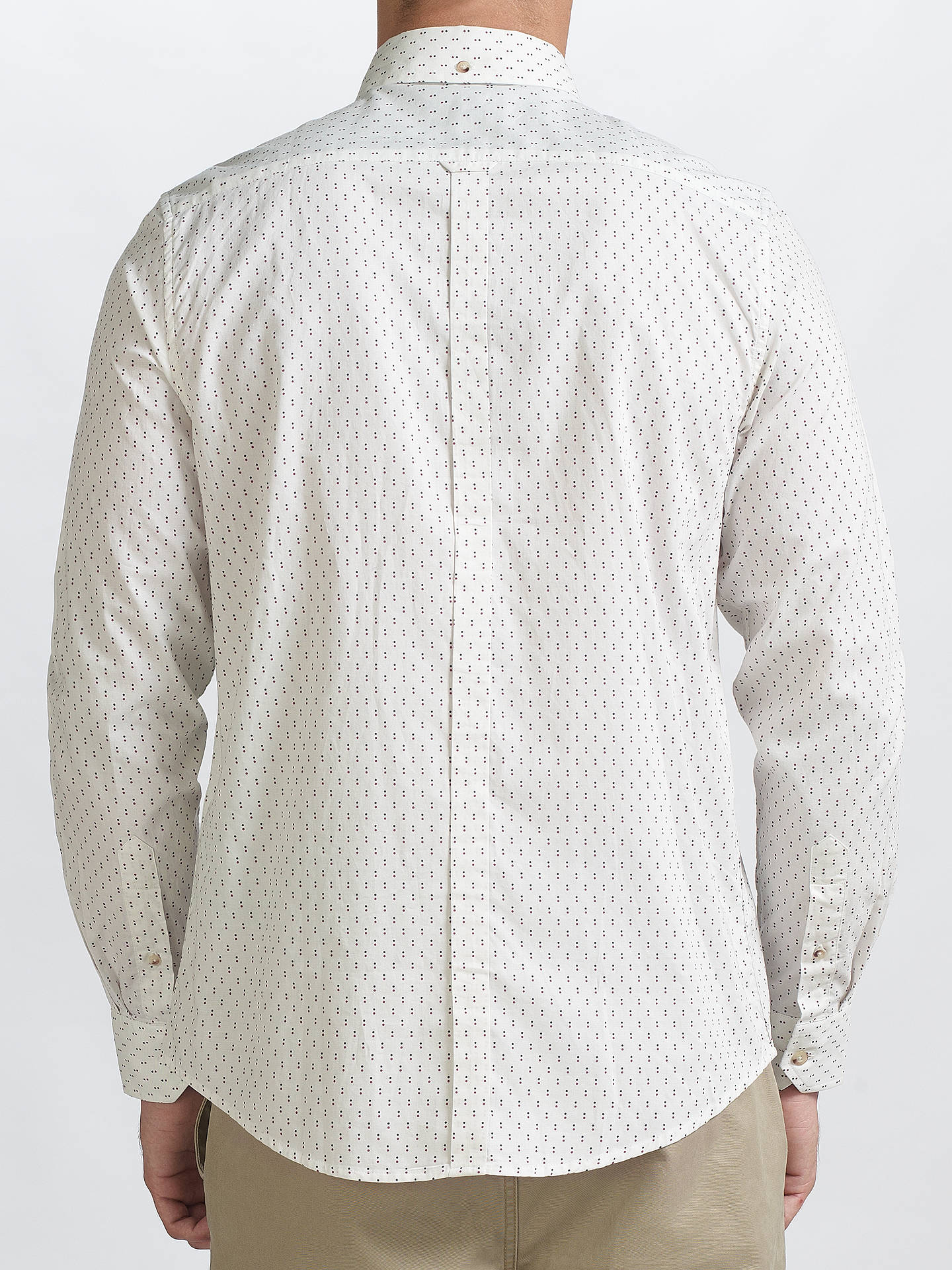 Buy Ben Sherman Two Finger Button Shirt, Snow White, XXL Online at johnlewis.com