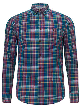Buy Ben Sherman Two Finger Check Shirt, Poseidon, S Online at johnlewis.com