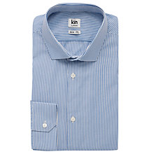 Buy Kin by John Lewis Eldon Fine Stripe Long Sleeve Shirt, Navy Online at johnlewis.com