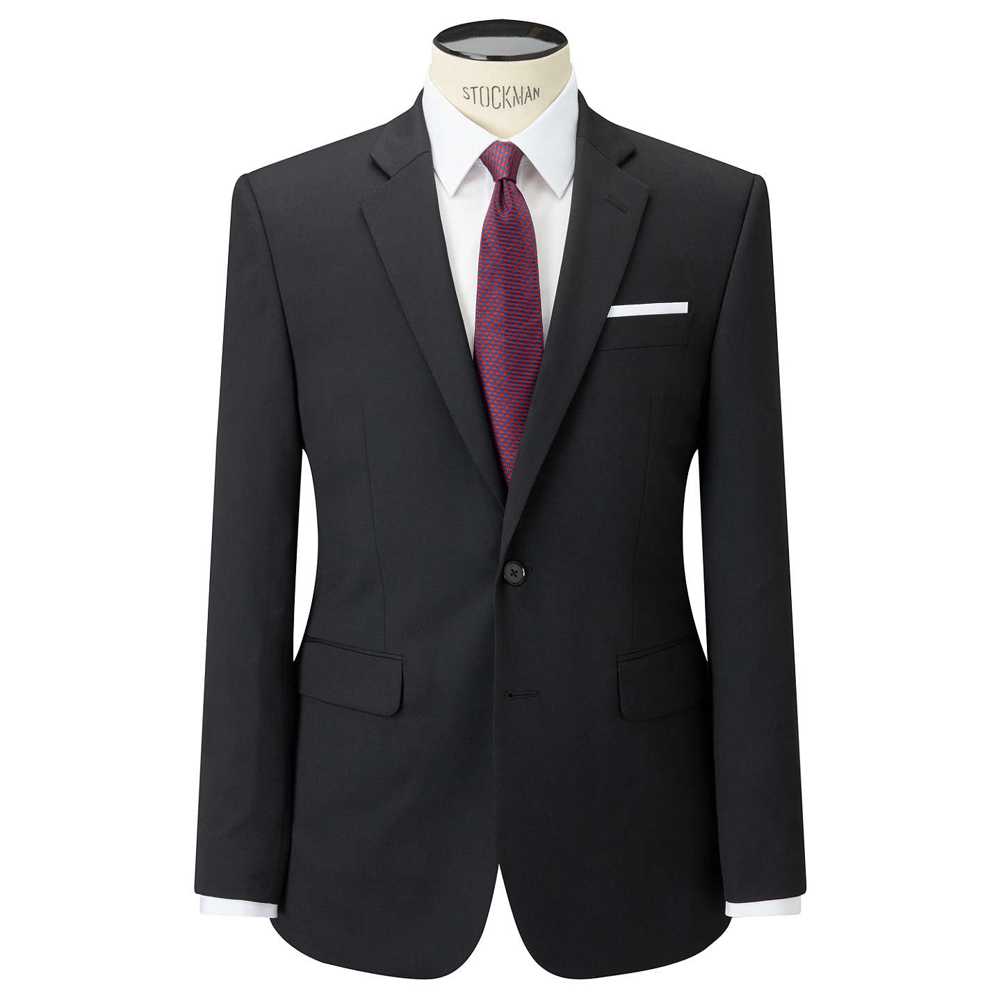 New New John Lewis Washable Tailored Suit Jacket Black for Men Outlet Online Sale