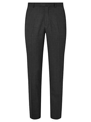 John Lewis & Partners Washable Tailored Suit Trousers, Charcoal