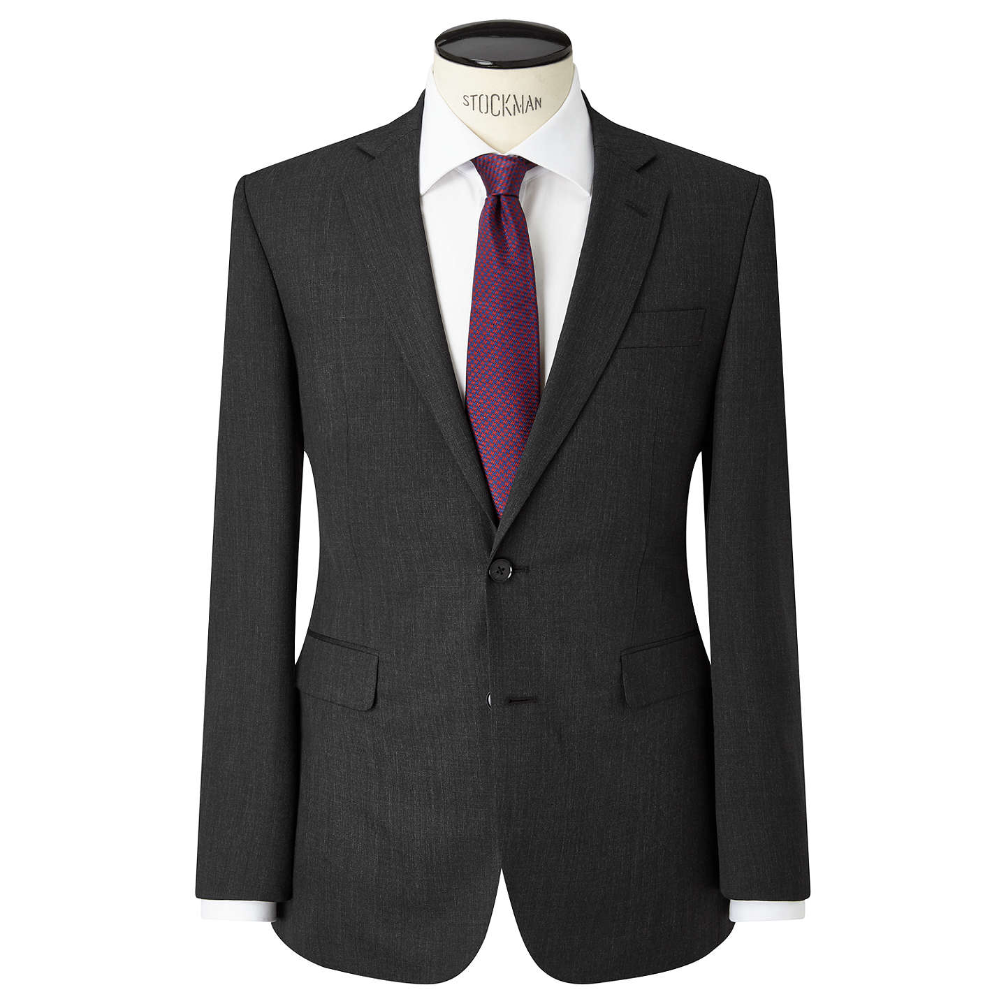 BuyJohn Lewis Washable Tailored Suit Jacket, Charcoal, 40R Online at johnlewis.com