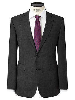 Buy John Lewis & Partners Washable Tailored Suit Jacket, Charcoal, 36R Online at johnlewis.com