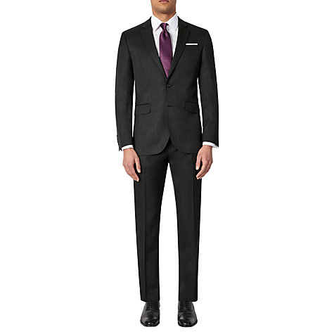 Buy John Lewis Washable Tailored Suit Trousers, Charcoal Online at johnlewis.com