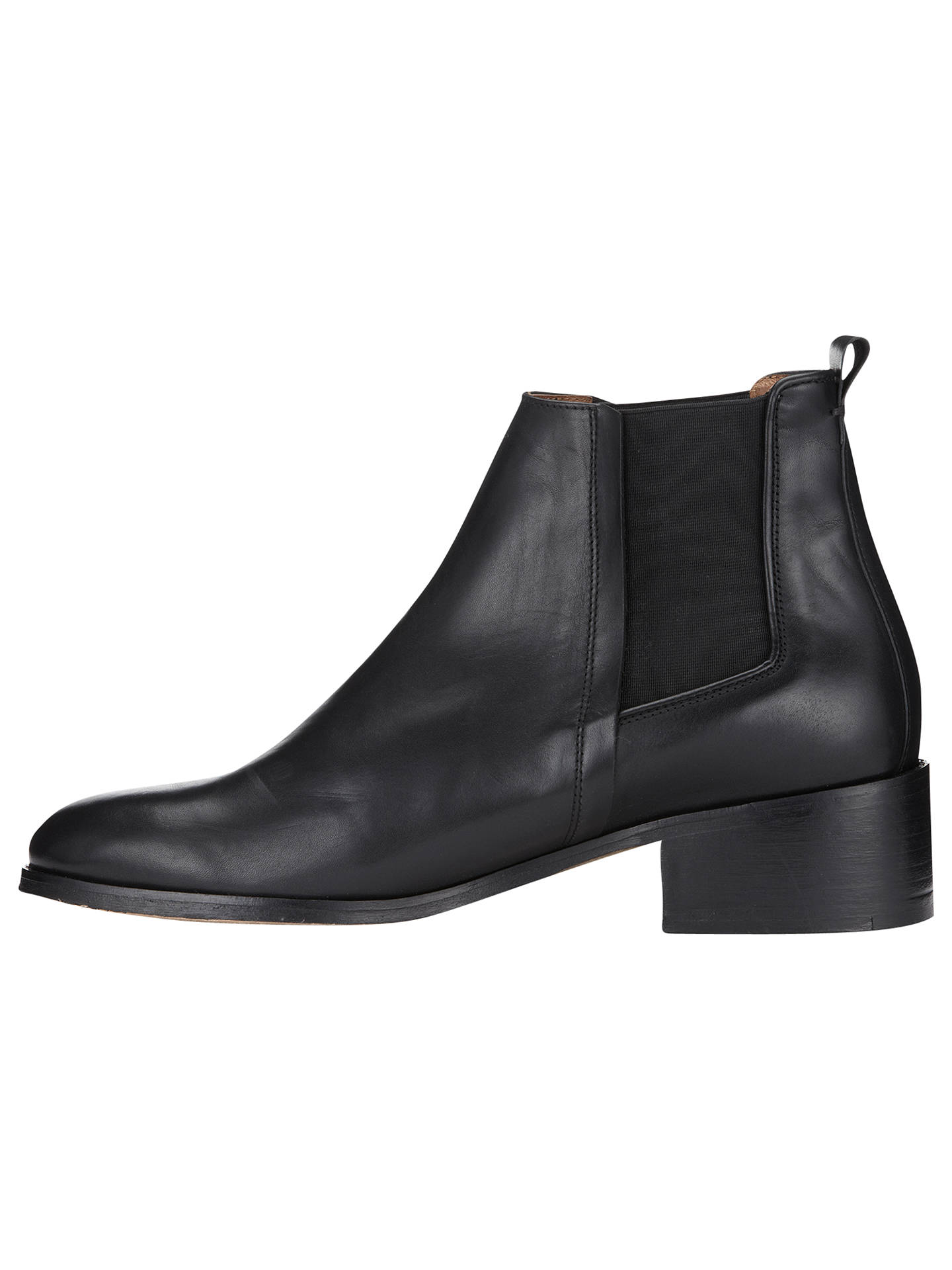Whistles Beaufort Chelsea Ankle Boots | Black Leather at