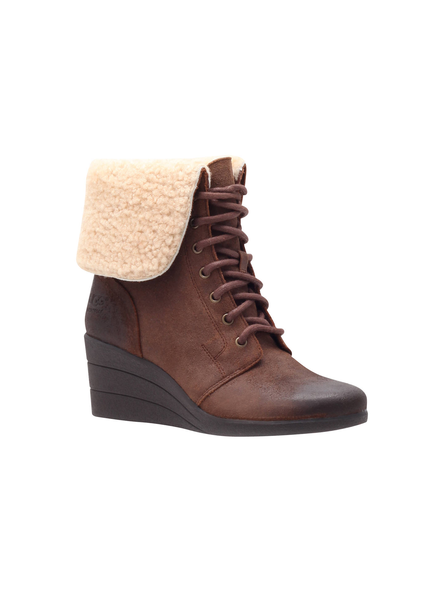 BuyUGG Zea Wedge Ankle Boots, Brown, 3 Online at johnlewis.com