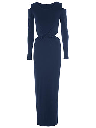 Buy True Decadence Mid Twist Cut-Out Dress, Navy, 8 Online at johnlewis.com