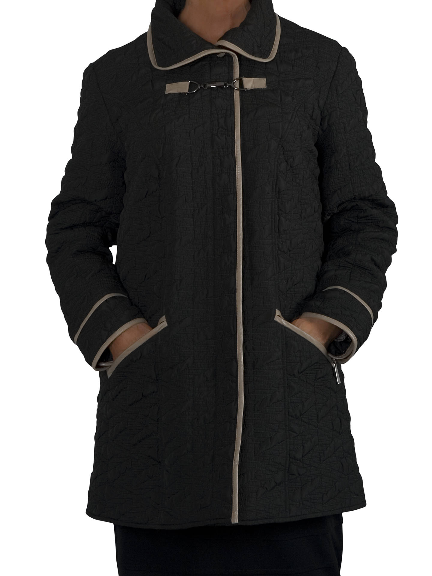 9f87ad0919 Chesca Contrast Piping Quilted Coat at John Lewis & Partners