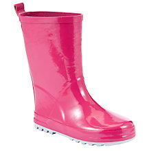 Buy John Lewis Children's High Gloss Wellington Boots, Fuchsia Online at johnlewis.com