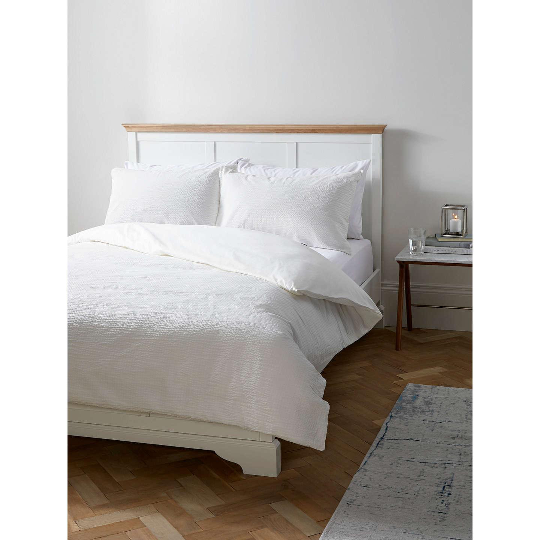 Buyjohn Lewis Emma Seersucker Duvet Cover And Pillowcase Set, Cream,