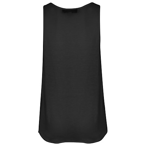 Buy French Connection Classic Polly Vest, Black Online at johnlewis.com