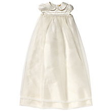 Buy John Lewis Baby Pintuck Long Christening Gown, Cream Online at johnlewis.com