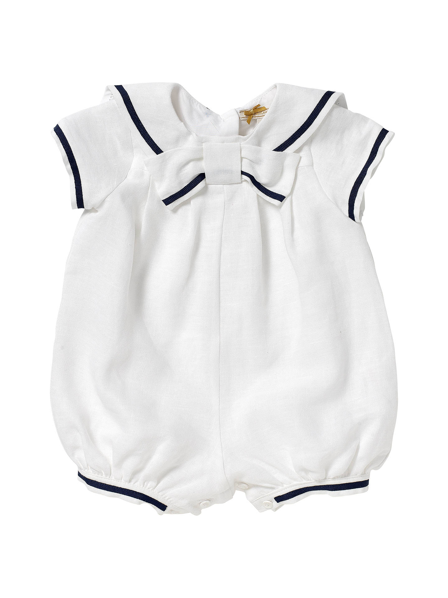 347991bfc17 Buy John Lewis Baby Linen Sailor Christening Romper