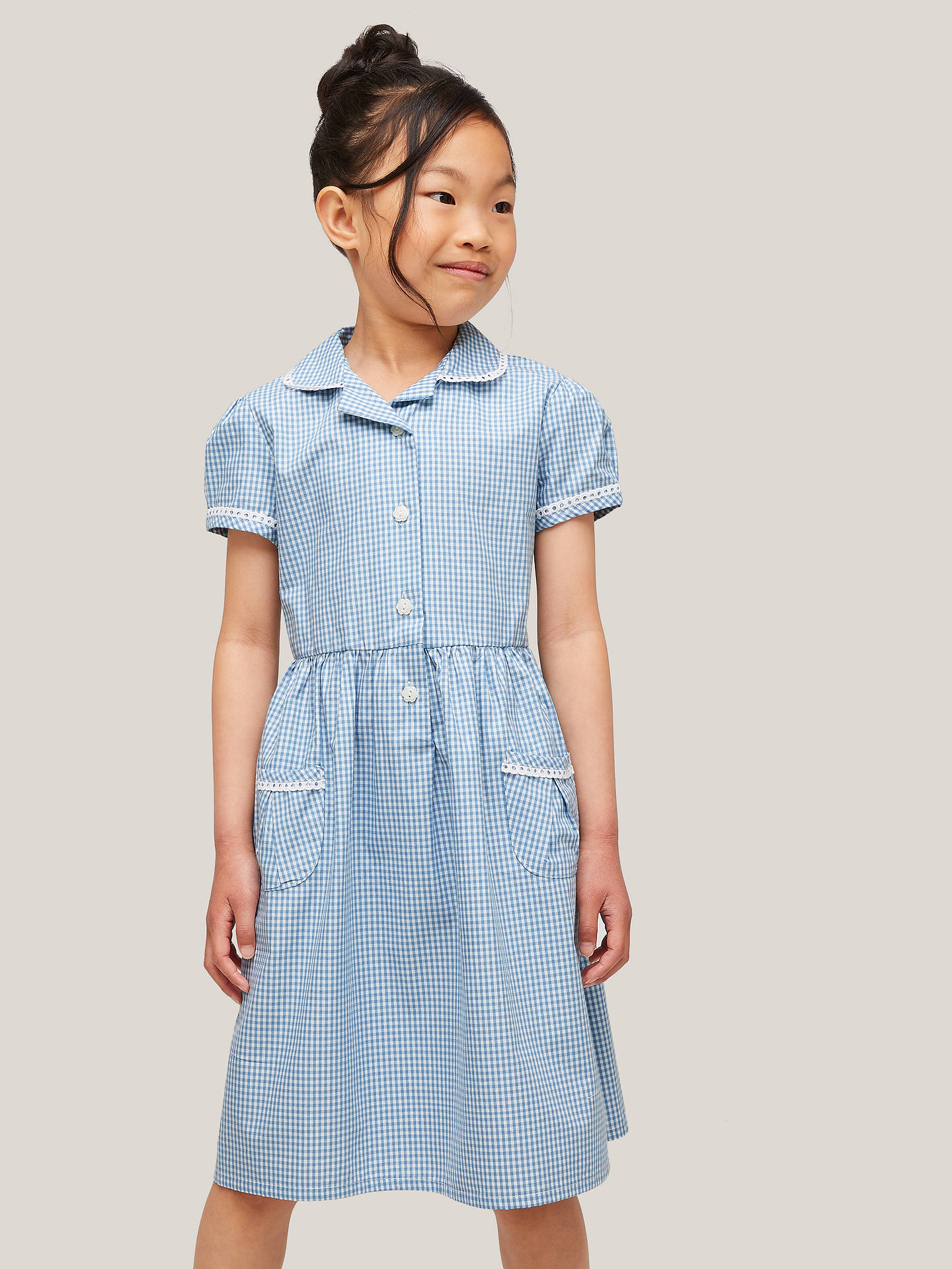 399937222c7 John Lewis   Partners Gingham Cotton School Summer Dress at John ...