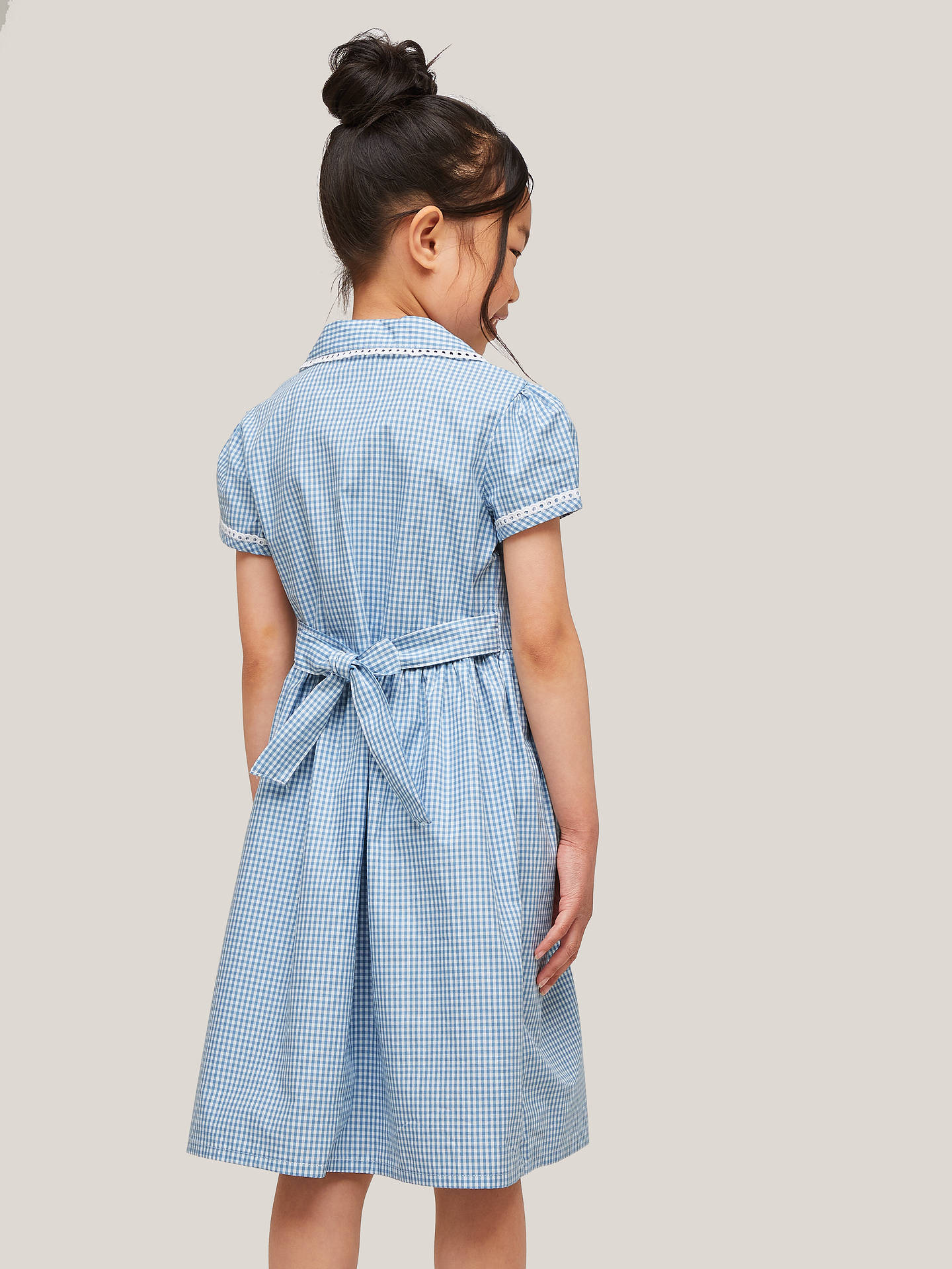 5ee7549ec3d0a Buy John Lewis & Partners Gingham Cotton School Summer Dress, Blue, 4 years  Online ...