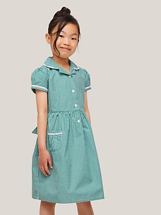 ff3e7d840 John Lewis   Partners Gingham Cotton School Summer Dress