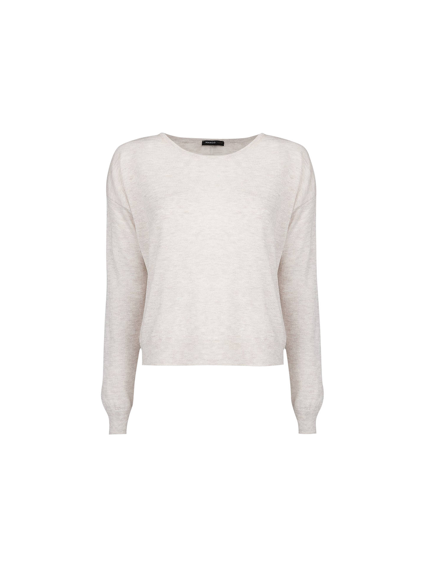 52c7ca59e966 Buy Mango Wool Blend Cropped Knit Jumper, Light Beige, S Online at  johnlewis.