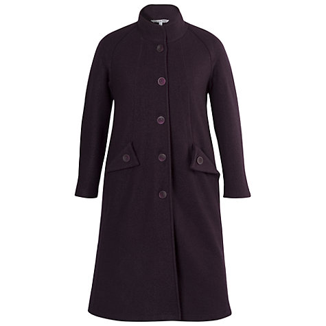 Buy Chesca Wing Pocket Detailed Coat, Grape Online at johnlewis.com