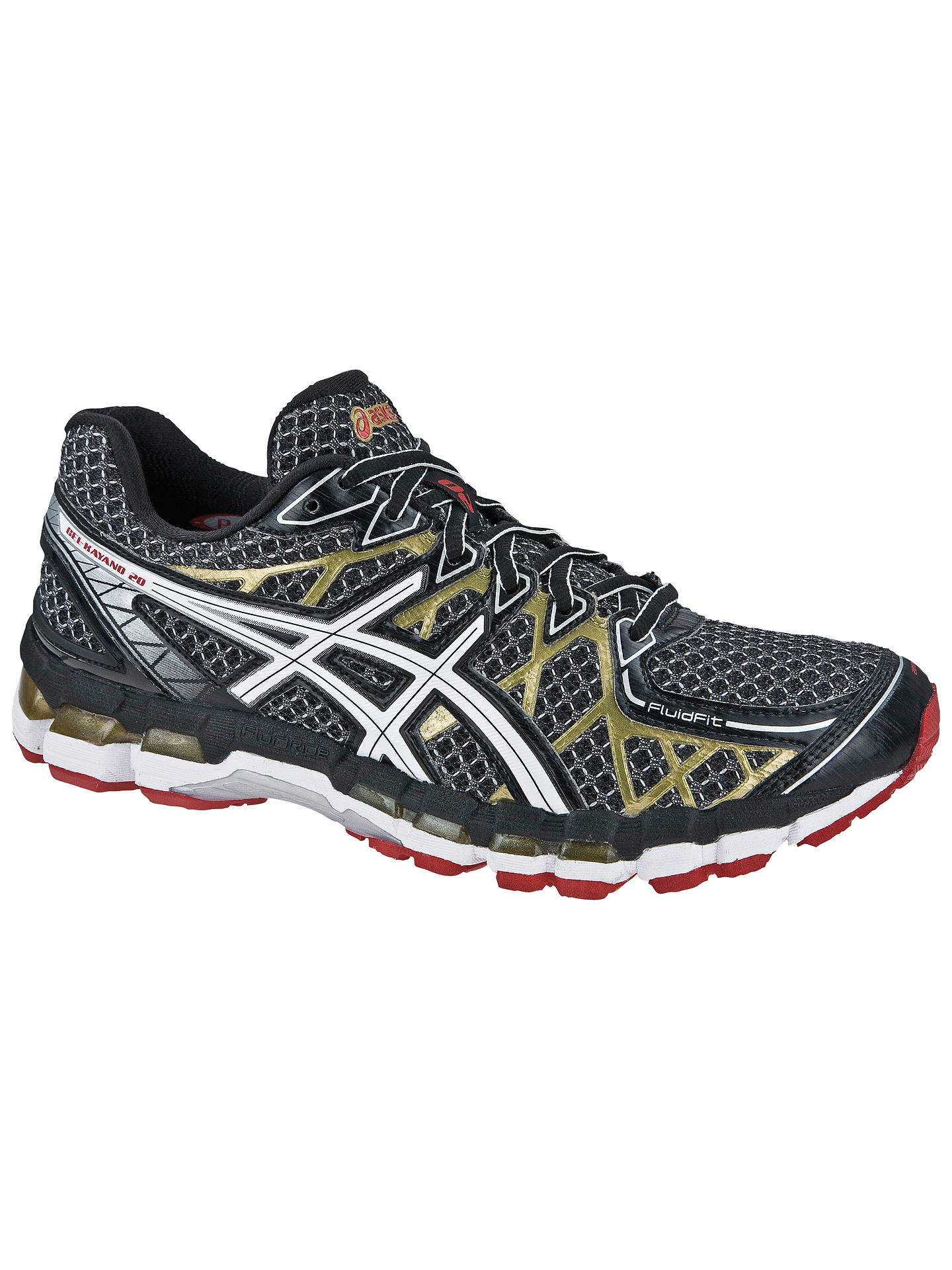 separation shoes a56f6 c0e31 Buy Asics GEL-Kayano 20 Men s Running Shoes, Black White Gold, ...