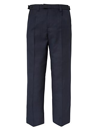 John Lewis & Partners Boys' Easy Care Adjustable Waist Senior Tailored Fit School Trousers