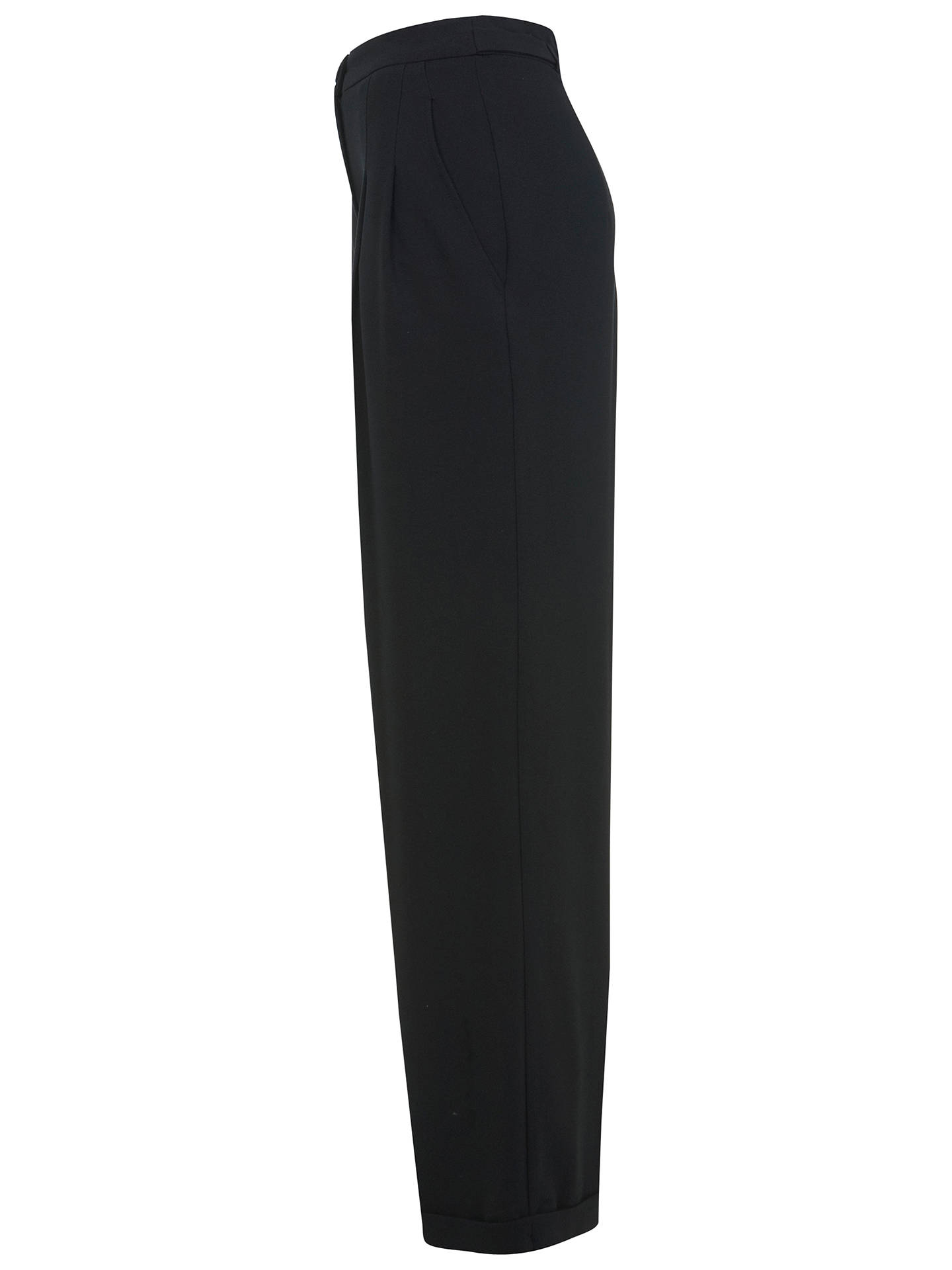 Buy Miss Selfridge High Waisted Trousers, Black, 10 Online at johnlewis.com