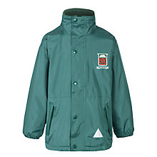 Buy Moorfield School Unisex Reversible Waterproof Coat, Bottle Green Online at johnlewis.com