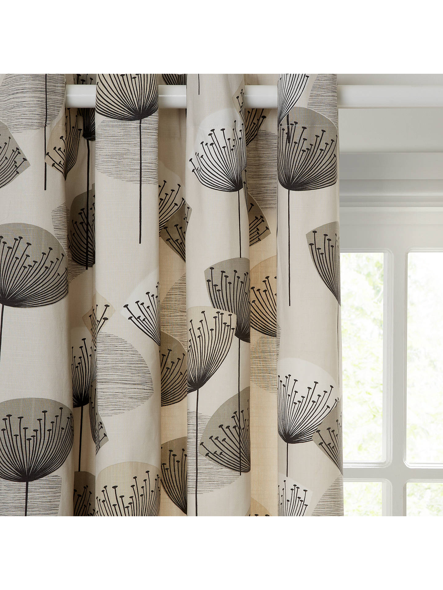 Sanderson Dandelion Clocks Pair Lined Eyelet Curtains