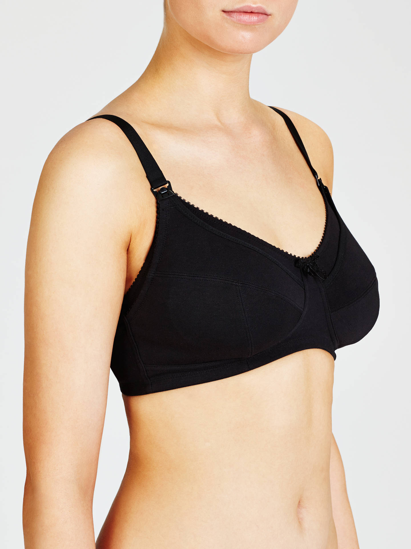 BuyJohn Lewis & Partners Maternity Bra, Pack of 2, Black / White, 32C Online at johnlewis.com