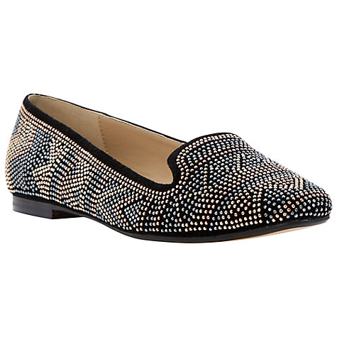 Buy Dune Lazztek Studded Slipper Loafers, Black Online at johnlewis.com
