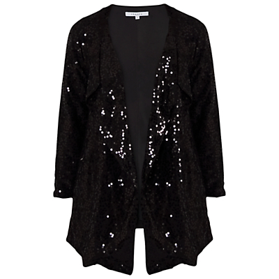 Chesca Sequin Jacket, Black
