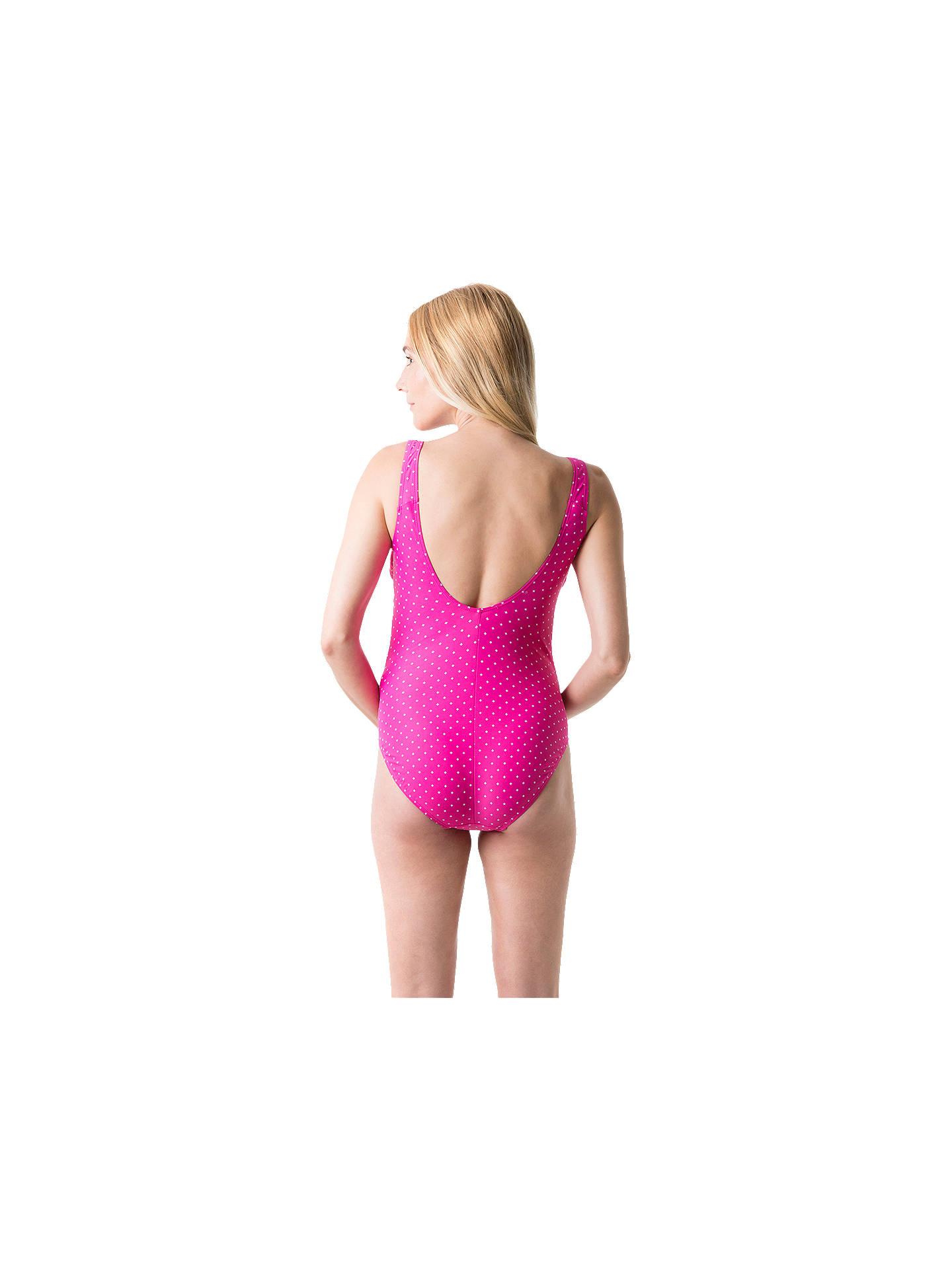 21c50d27efab8 ... Buy Speedo's Essential Grace U-Back Maternity 1 Piece Swimsuit,  Pink/White, ...