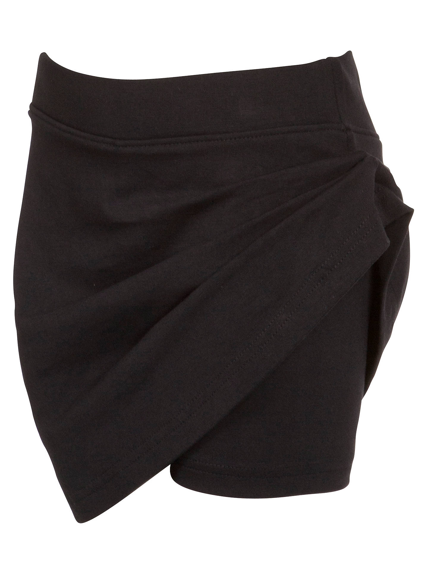 Buy John Lewis & Partners Girls' School Skort, Black, 5-6 years Online at johnlewis.com