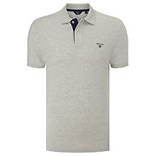 Buy GANT Contrast Placket Polo Shirt, Light Grey Online at johnlewis.com