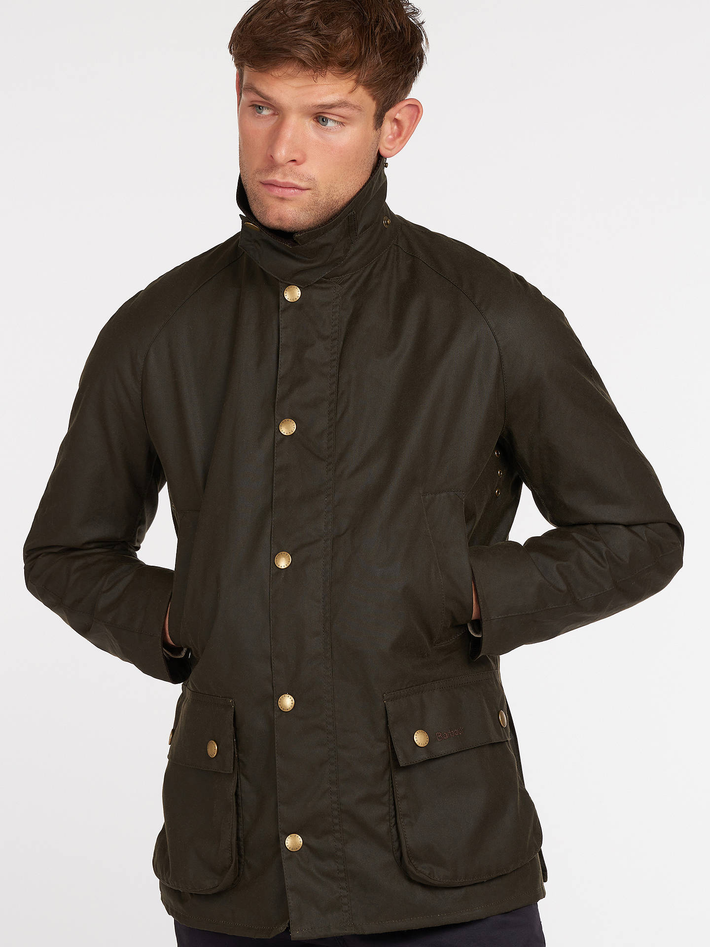 Barbour Lifestyle Ashby Waxed Cotton Field Jacket Olive At John
