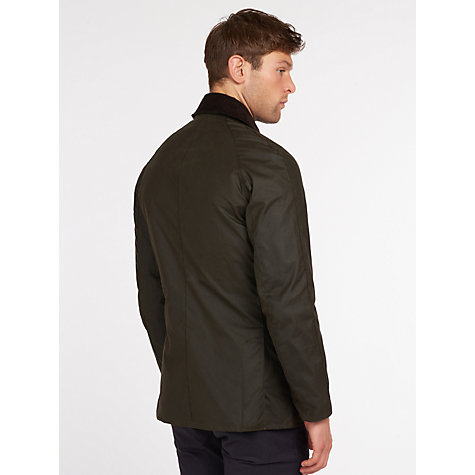 Buy Barbour Lifestyle Ashby Waxed Cotton Field Jacket, Olive Online at johnlewis.com