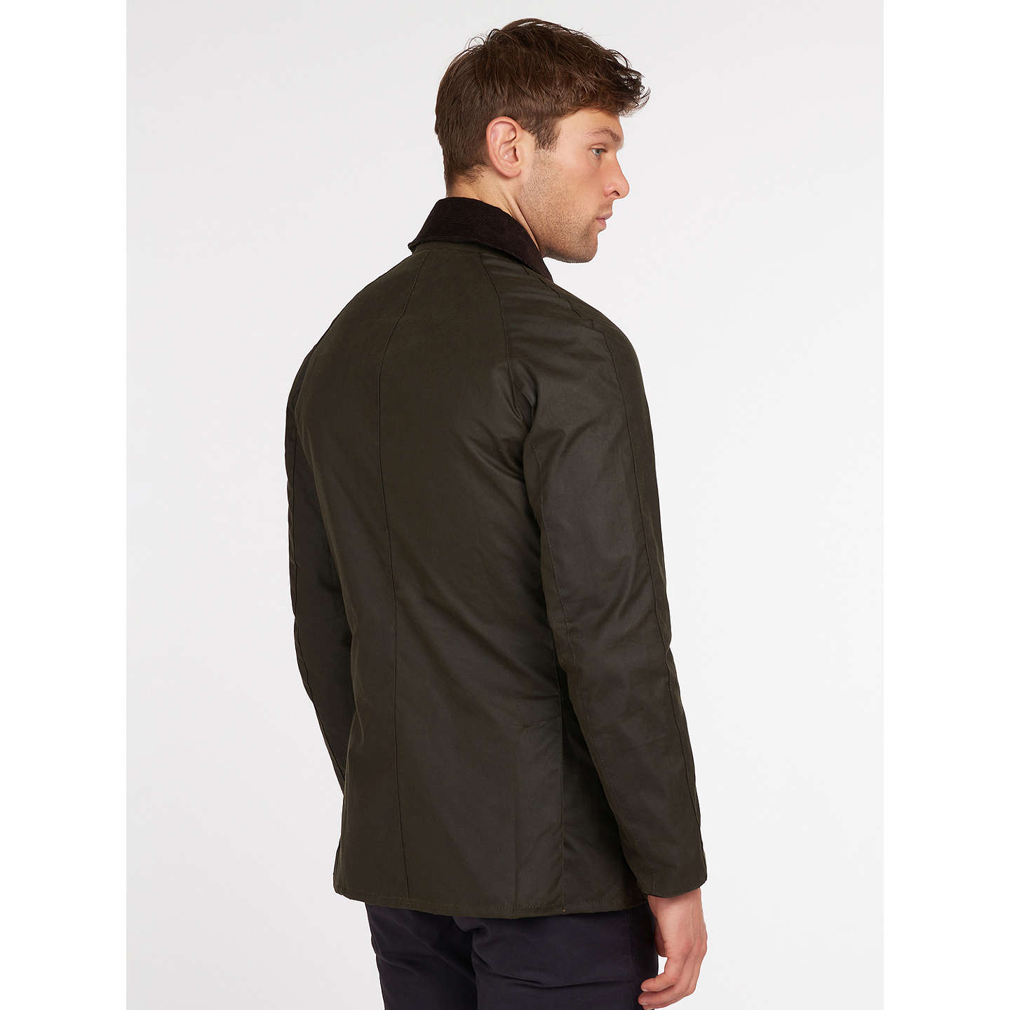 BuyBarbour Lifestyle Ashby Waxed Cotton Field Jacket, Olive, S Online at johnlewis.com