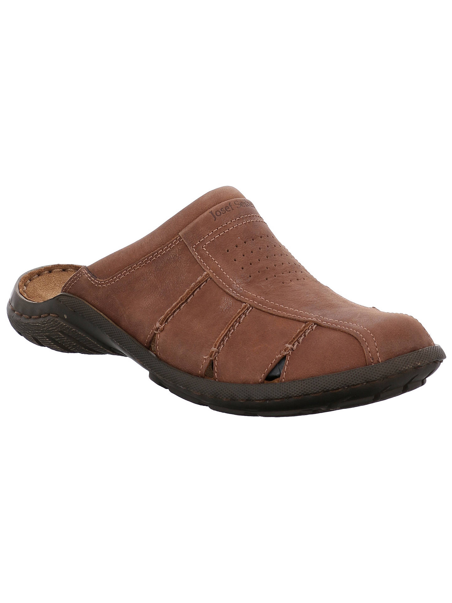 BuyJosef Seibel Logan 22 Leather Sandals, Nut, 7 Online at johnlewis.com
